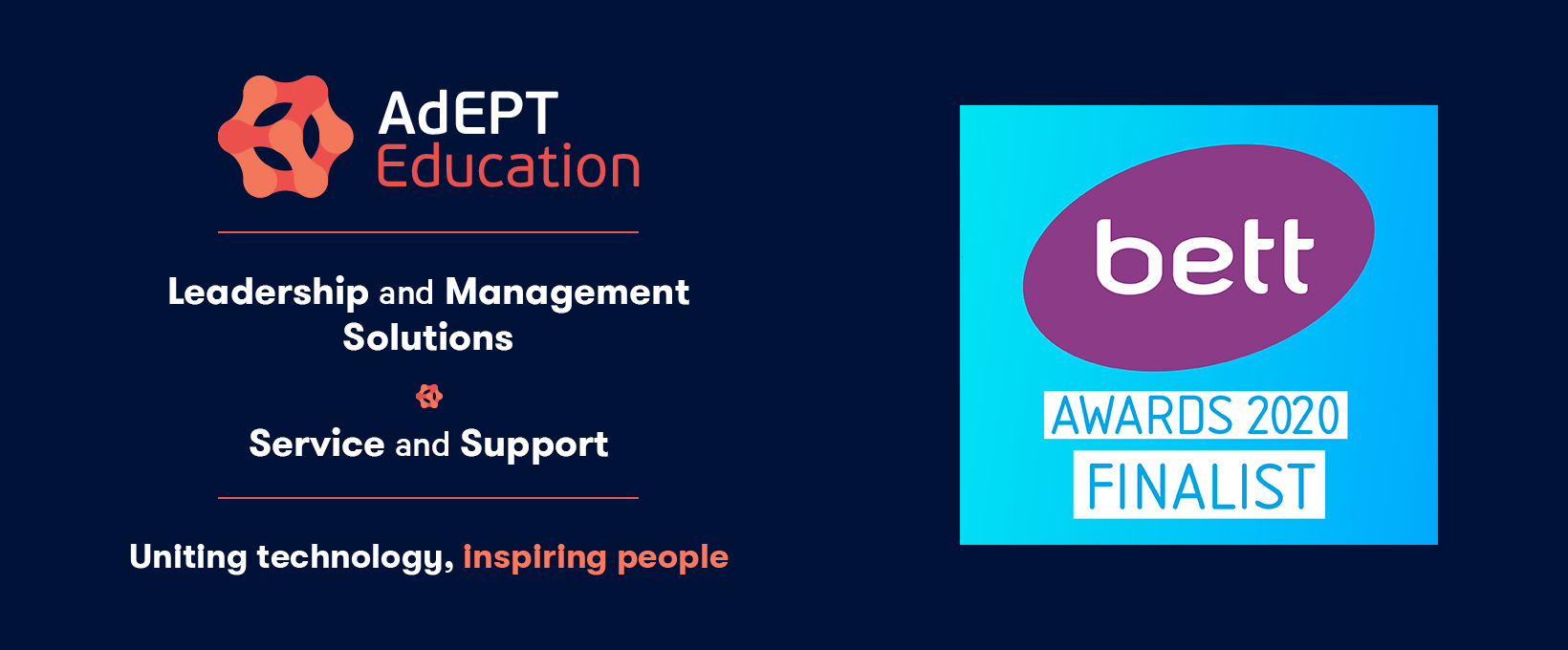 AdEPT Education Finalists for Two Bett Awards